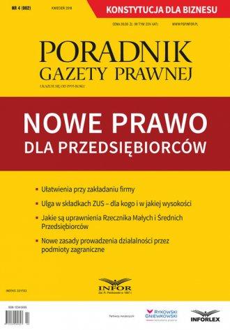 Poradnik Gazety Prawnej 4/2018. - okładka książki