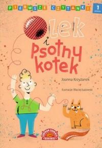 Pierwsze czytanki. Olek i psotny kotek - okładka książki