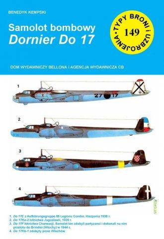 Samolot bombowy Dornier Do 17 - okładka książki