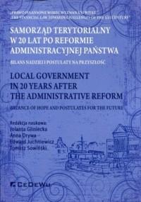 Samorząd terytorialny. W 20 lat po reformie administracyjnej państwa. Bilans nadziei i postulaty na przyszłość - okładka książki
