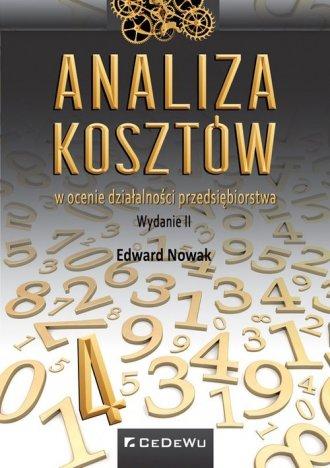Analiza kosztów w ocenie działalności - okładka książki