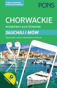 Chorwackie rozmówki ilustrowane Słuchaj i mów - okładka podręcznika