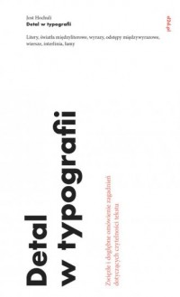Detal w typografii - okładka książki