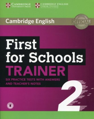 First for Schools Trainer 2 - okładka podręcznika