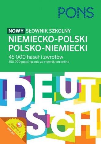 Nowy słownik szkolny niemiecko-polski, - okładka podręcznika