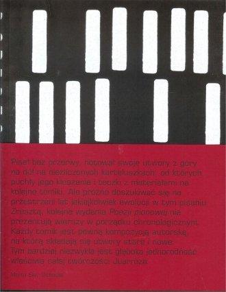 Poezja pionowa - okładka książki