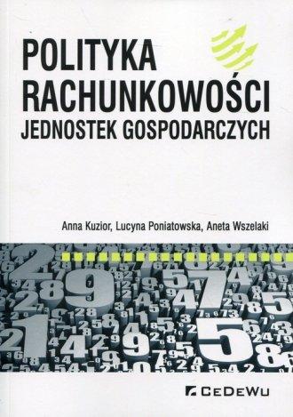 Polityka rachunkowości jednostek - okładka książki