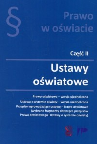 Prawo w oświacie cz. 2. Ustawy oświatowe - okładka książki