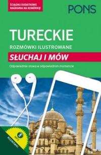 Turecki rozmówki ilustrowane Słuchaj i mów - okładka podręcznika