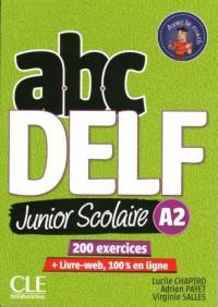 ABC DELF A2 junior scolaire książka + DVD + zawartość online 2ed - okładka podręcznika
