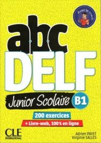 ABC DELF B1 junior scolaire książka + DVD + zawartość online 2ed - okładka podręcznika