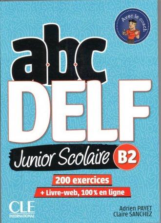 ABC DELF B2 junior scolaire ks+DVD+zawartość - okładka podręcznika