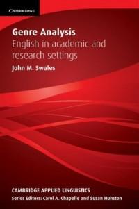 Genre Analysis - John Swales - okładka książki