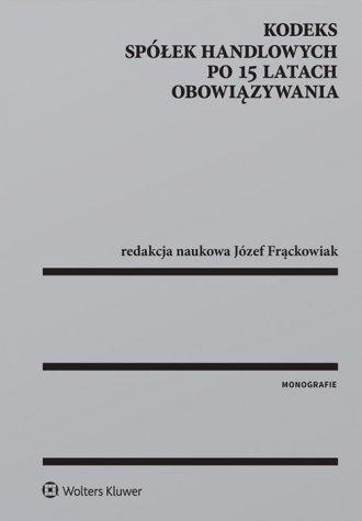 Kodeks spółek handlowych po 15 - okładka książki