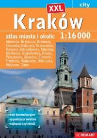 Kraków XXL atlas miasta plus 19 - okładka książki