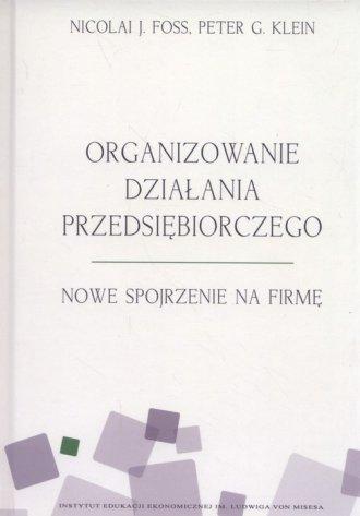 Organizowanie działania przedsiębiorczego. - okładka książki