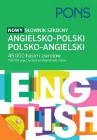 Słownik szkolny angielsko-polski polsko-angielski - okładka książki