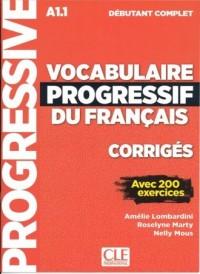 Vocabulaire progressif du Francais niveau debutant complet A1.1. Klucz - okładka podręcznika