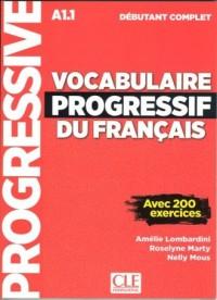 Vocabulaire progressif du Francais niveau debutant complet A1.1 Książka - okładka podręcznika