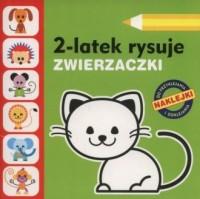 2-latek rysuje. Zwierzaczki - okładka książki
