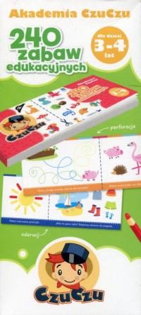 Akademia CzuCzu dla dzieci od 3-4 lat 240 zabaw edukacyjnych - okładka książki