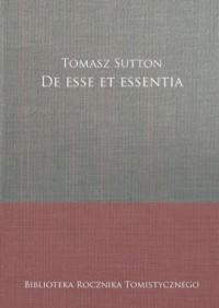 De esse et essentia - okładka książki