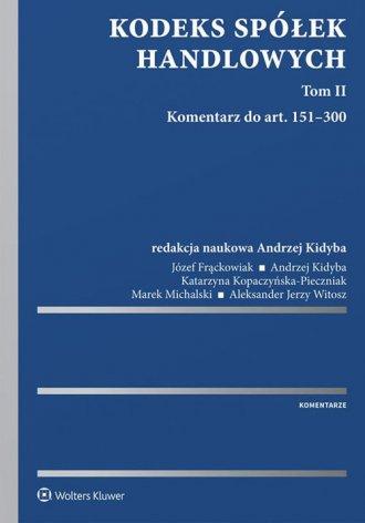 Kodeks spółek handlowych Komentarz. - okładka książki