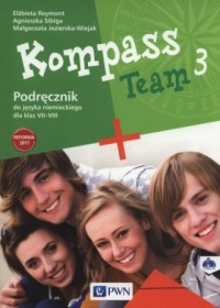 Kompass Team 3. Szkoła podstawowa. Podręcznik (+ 2 CD) - okładka książki