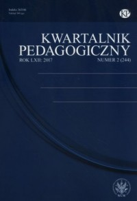 Kwartalnik Pedagogiczny 2(244)2017 - okładka książki