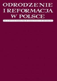 Odrodzenie i Reformacja w Polsce. Tom 61 - okładka książki