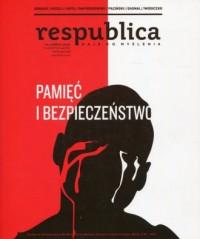 Res publica 3/2017 Pamięć i bezpieczeństwo - okładka książki