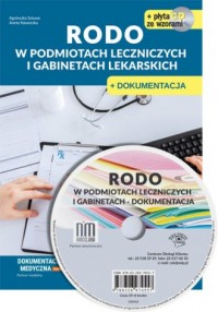 RODO w podmiotach leczniczych i gabinetach lekarskich + CD z wzorami - okładka książki