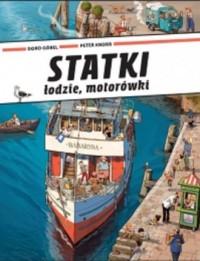 Statki łodzie motorówki - okładka książki