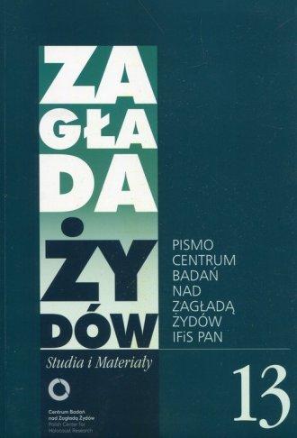 Zagłada Żydów Studia i Materiały - okładka książki