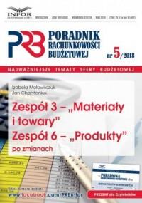 Zespół 3. Poradnik Rachunkowości Budzetowej 5/2018 - okładka książki