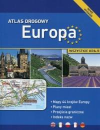 Atlas drogowy Europa - okładka książki