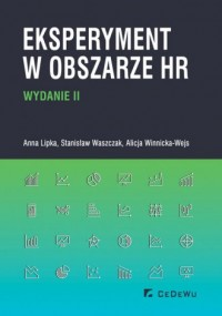 Eksperyment w obszarze HR - okładka książki