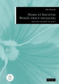 Homo et societas wokół pracy socjalnej rocznik naukowy nr 2/2017 - okładka książki