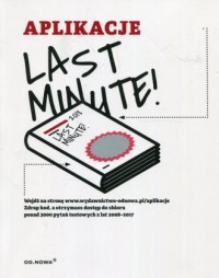 Last Minute Aplikacje - Wydawnictwo Od.Nowa. - okładka książki
