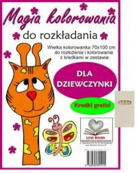 Magia kolorowania dla dziewczynki - okładka książki