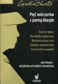 Pięć wieczorów z panną Marple. Zatrute pióro / Karaibska tajemnica / Kieszeń pełna żyta / Uśpione morderstwo / Trzynaście zagadek. PAKIET - okładka książki