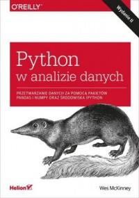 Python w analizie danych. Przetwarzanie danych za pomocą pakietów Pandas i NumPy oraz środowiska IPy - okładka książki