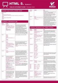 Tablice informatyczne HTML 5 - okładka książki