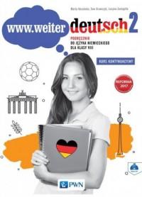 www.weiter.deutsch 2. Szkoła podstawowa. Podręcznik do języka niemieckiego dla klasy 8 (+ CD) - okładka podręcznika