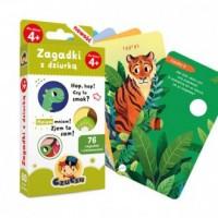 Zagadki z dziurką dla dzieci w wieku 4+ - okładka książki
