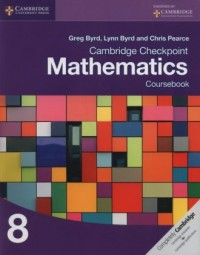 Cambridge Checkpoint Mathematics Coursebook 8 - okładka podręcznika