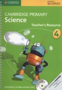 Cambridge Primary Science Teachers Resource 4 + CD - okładka podręcznika