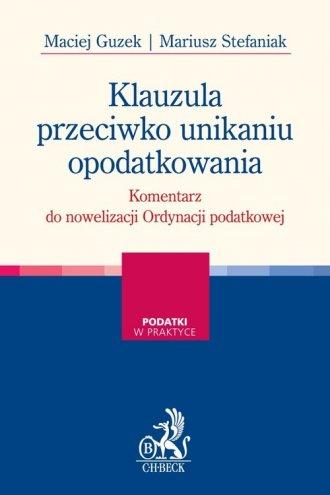 Klauzula przeciwko unikaniu opodatkowania - okładka książki
