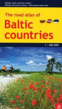 Kraje Bałtyckie atlas samochodowy 1:400 000 - okładka książki