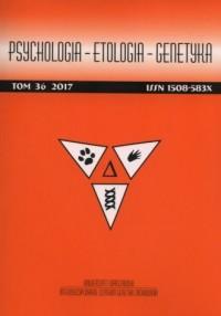 Psychologia Etologia Genetyka. Tom 36/2017 - okładka książki
